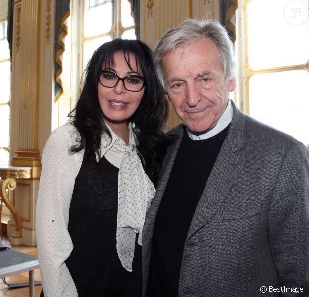 Costa-Gavras et Yamina Benguigui, ministre déléguée en charge des Français de l'étranger et de la Francophonie, a ouvert, seule, la Semaine de la langue francaise et de la Francophonie au ministère de la Culture, le 12 mars 2013.