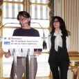 Yamina Benguigui, ministre déléguée en charge des Français de l'étranger et de la Francophonie, a ouvert, seule, la Semaine de la langue francaise et de la Francophonie au ministère de la Culture, le 12 mars 2013.
