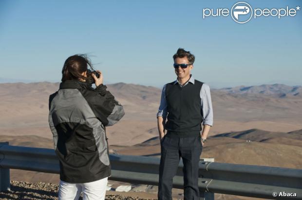 Książę Frederik Danii i jego żona Crown Princess Mary turyści obserwatorium Cerro Paranal w pustyni Atakama 14 marca 2013