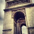 Justin Bieber a posté une photo de l'Arc de Triomphe, le 17 mars 2013.