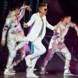 Justin Bieber en concert au Palais Omnisports de Paris Bercy le 19 mars 2013.
