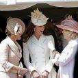 Sophie, comtesse de Wessex, Catherine, duchesse de Cambridge, et Camilla, duchesse de Cornouailles, lors des cérémonies de l'ordre de la jarretière le 18 juin 2012.