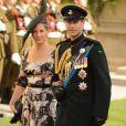 Le prince Edward et la comtesse Sophie de Wessex le 20 octobre 2012 au mariage de Guillaume de Luxembourg et Stéphanie de Lannoy.