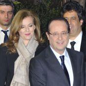 François Hollande avec Valérie Trierweiler et Anne Sinclair au dîner du Crif