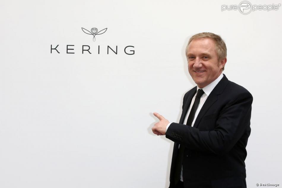 François Henri Pinault rebaptise le groupe PPR (Pinault, Printemps,Redoute) par le nom Kering à l'Atelier Richelieu, le 22 mars 2013