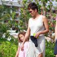 Olivier Martinez, Halle Berry, et sa fille Nahla en vacances sur une plage d'Hawaï le 27 mars 2013.