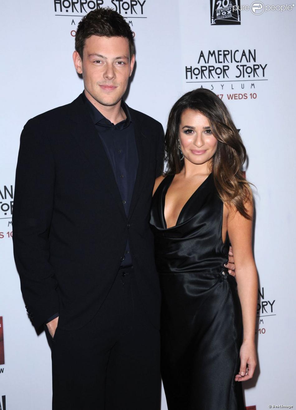 Cory Monteith et Lea Michele à la première du film  American Horror Story : Asylum  aux studios Paramount à Los Angeles, le 13 octobre 2012.