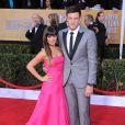 Lea Michele et Corey Monteith aux Annual Screen Actors Guild au Shrine Exposition Center à Los Angeles, le 27 janvier 2013.