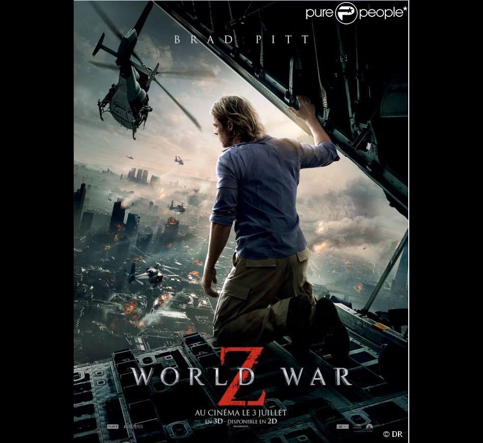 Nouvelle affiche officielle française pour World War Z avec Brad Pitt.
