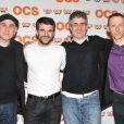 Philippe Vieux, Sebastian Barrio, Alain Dion lors de l'avant-première de la saison 2 de  Q.I.  au Forum des Images aux Halles à Paris le 4 avril 2013.