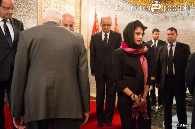 Najat Vallaud-Belkacemau mausolée Mohammed V à Rabat, le 4 avril 2013.