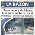 Jeudi 4 avril 2013, les journaux espagnols faisaient leurs gros titres de la convocation de l'infante Cristina devant la justice dans le cadre du scandale Noos, annoncée la veille.