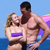Hayden Panettiere et son fiancé : Bisous, câlins et jeux amoureux sur la plage