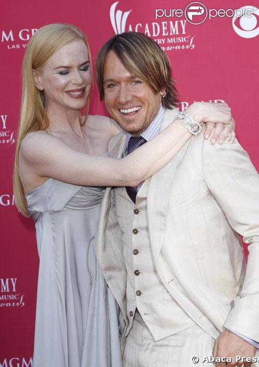 Nicole Kidman  et son mari Keith Urban aux Country Music Awards