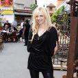 Amandine Bourgeois pose au Festival Jazz Musette de Saint Ouen, le 23 juin 2012.