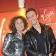 Mireille Dumas et Cyril Féraud à la conférence de presse de l'Eurovision 2012 à Paris, le 26 avril 2012.