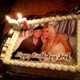 Gâteau d'anniversaire de Hugh Hefner qui célébrait son 87e anniversaire à Los Angeles, le 9 avril 2013.