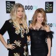 Fergie et Kylie Minogue lors des NewNowNext awards, le 13 avril 2013 à Los Angeles.
