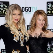 Fergie et Kylie Minogue lors des NewNowNext awards, le 13 avril 2013 à Los Angeles.
