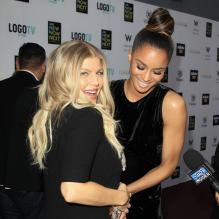 Fergie et Ciara lors des NewNowNext awards, le 13 avril 2013 à Los Angeles.