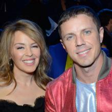 Kylie Minogue et Jake Shears lors des NewNowNext awards, le 13 avril 2013 à Los Angeles.