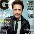 Couverture du GQ Magazine avec Robert Downey Jr. en couverture.