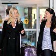 Le top Luisana Lopilato, la femme de Michael Bublé, arrive à l'aéroport de Vancouver au Canada le 17 avril 2013. Elle revenait d'un séjour en Angleterre où elle a accompagné Michael Bublé faire la promotion de son nouvel album. La future maman devrait accoucher cet été.
