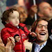 PSG-Nice : Jean Sarkozy, papa câlin avec Solal et Jessica, auprès de Nicolas