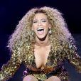 Beyoncé lors du festival de Glastonbury en Angeleterre, le 26 juin 2011.