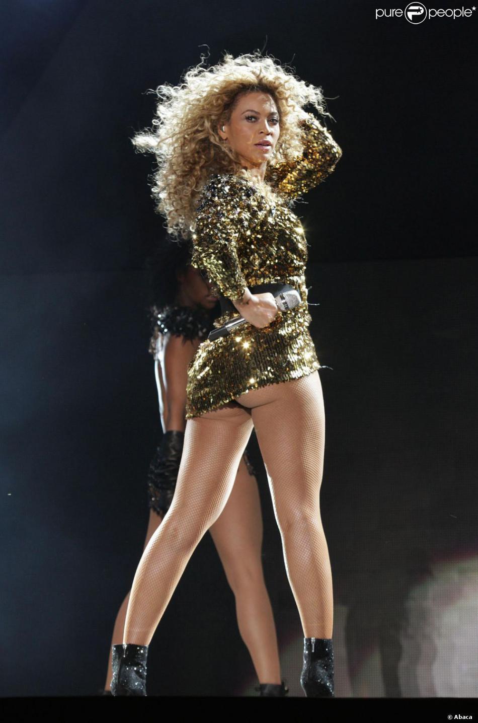 Beyoncé lors du festival de Glastonbury en Angleterre, le 26 juin 2011.