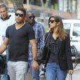Ronaldo et sa mystérieuse brune dans les rues de Madrid le 24 avril 2013