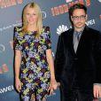"""""""Gwyneth Paltrow et Robert Downey Jr. présentent à Paris le film Iron Man 3 le 14 avril 2013"""""""