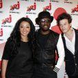Exclusif - Will.I.Am rencontre Zayra Setouty et Sidoine Remy de la Star Academy 9 lors de l'emission de Sebastien Cauet sur NRJ a Paris, le 17 avril 2013.