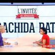 Rachida Dati sur le plateau du Supplément de Maïtena Biraben, sur Canal+, le 28 avril 2013.