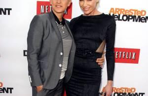 Ellen DeGeneres et Portia De Rossi, amoureuses devant Jason Biggs et sa femme