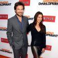 Jason Bateman et sa femme Amanda Anka à la soirée de présentation par le site Netflix de la saison 4 de Arrested Development à Hollywood, le 29 avril 2013.