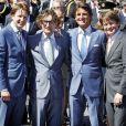Le prince Maurits d'Orange-Nassau (centre-droite) avec ses frères Floris, Bernhard et Pieter Christiaan lors du Jour de la reine le 30 avril 2012.
