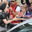 Pink à la sortie de son hôtel à Berlin le vendredi 3 mai 2013.