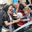 Pink et sa petite Willow sortant de leur hôtel à Berlin le vendredi 3 mai 2013.