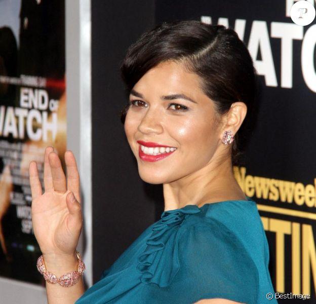 La jolie America Ferrera à l'avant-première du film End Of Watch, à Los Angeles, le 17 septembre 2012.