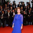 Vahina Giocante lors de la montée des marches pour l'ouverture du Festival de Cannes et la projection du film Gatsby le Magnifique le 15 mai 2013