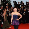 Zhang Ziyi, habillée en Dior, lors de la montée des marches pour l'ouverture du Festival de Cannes et la projection du film Gatsby le Magnifique le 15 mai 2013