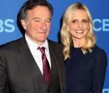 Robin Williams et Sarah Michelle Gellar à la soirée  CBS Upfront Presentation  au Lincoln Center à New York City, le 15 mai 2013.