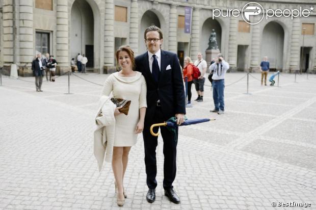 Emma pernald et tomas jonson lors de la publication des bans du mariage de la princesse - Publication banc mariage ...