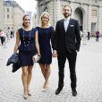 Louise Gottlieb, Lovisa de Geer et son ami lors de la publication des bans du mariage de la princesse Madeleine de Suède et Chris O'Neill le 19 mai 2013