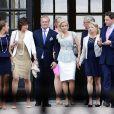 Louise Gottlieb, Carola Gottlieb, Natalie Werner et Dag Werner lors de la publication des bans du mariage de la princesse Madeleine de Suède et Chris O'Neill le 19 mai 2013