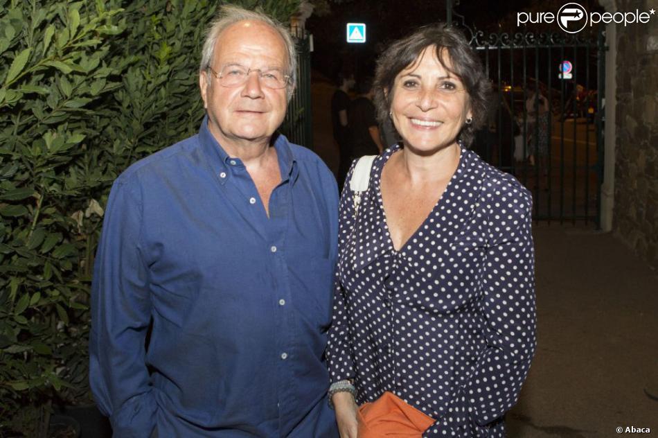 Marc Ladreit de Lacharrière et Véronique Morali en août 2012 au Festival de Ramatuelle.