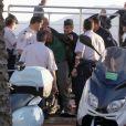 """L'emission de Canal+, """"Le Grand Journal"""", a ete subitement interrompu par des detonations derriere le plateau, qui a ete evacue immediatement. L'auteur a ete arrete peu de temps apres les coups de feu en possession d'une grenade dans sa main. Le 17 mai 2013 17/05/2013 - Cannes"""