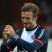 PSG-Brest : David Beckham, l'adieu en larmes et triomphal au Parc, avec ses fils