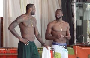 LeBron James, Dwyane Wade : Concours de muscles pour les stars du Heat de Miami